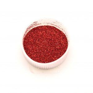 """Глиттер(блестки) 0,1мм(1/256""""), пакет, цвет: красный (1уп = 100г)"""