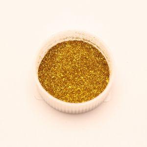 "`Глиттер(блестки) 0,1мм(1/256""), баночка 20мл, цвет: золото"