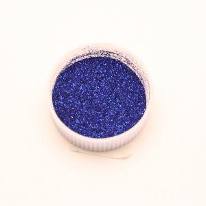 "`Глиттер(блестки) 0,1мм(1/256""), баночка 20мл, цвет: синий"