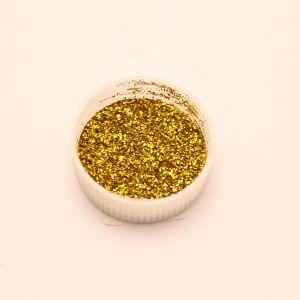 "`Глиттер(блестки) 0,2мм(1/128""), баночка 20мл, цвет: золото"