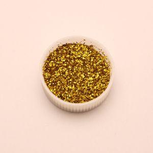 "`Глиттер(блестки) 0,4мм(1/64""), баночка 20мл, цвет: золото"