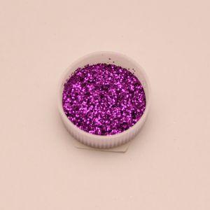 "`Глиттер(блестки) 0,4мм(1/64""), баночка 20мл, цвет: фиолетовый"