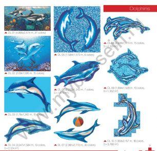 Мозаичные панно Dolphins
