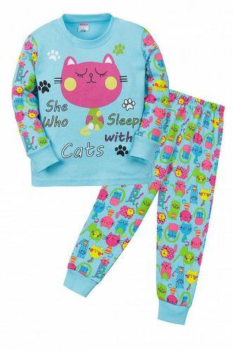 """Пижама детская """"CAT""""  (2-5 лет) СМ407 бирюзовый"""