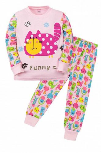 """Пижама детская """"CAT""""  (2-5 лет) СМ407 розовый"""