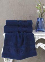 Полотенце махровое REBEKA 100*150 (синее) Арт.3280-2