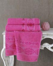 Полотенце махровое REBEKA 100*150 (розовое) Арт.3280-8