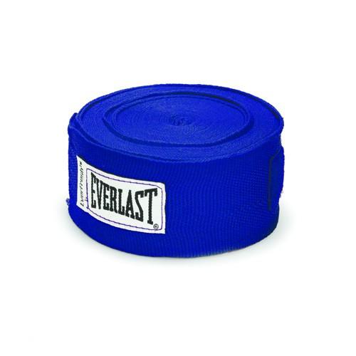 Бинты боксерские EVERLAST 4.55 М., х/б и спандекс, синие  артикул 4456BLU