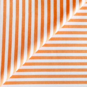 Ткань Хлопок Оранжевая полоска 50x40