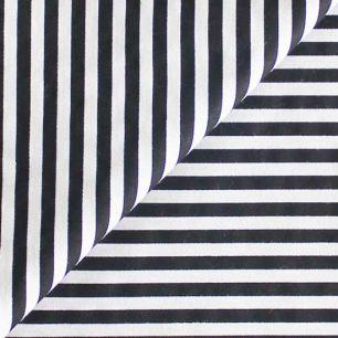 Ткань Хлопок Черная полоска 50x40