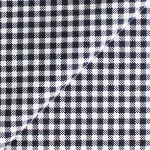 Ткань Хлопок Черная клетка 50x40