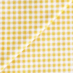 Ткань Хлопок Желтая клетка 50x40
