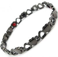 Женский черный магнитный браслет
