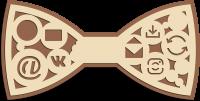 Деревянный галстук-бабочка соц сети