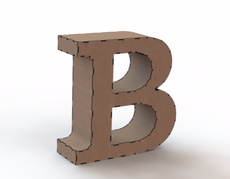 Объемная буква В
