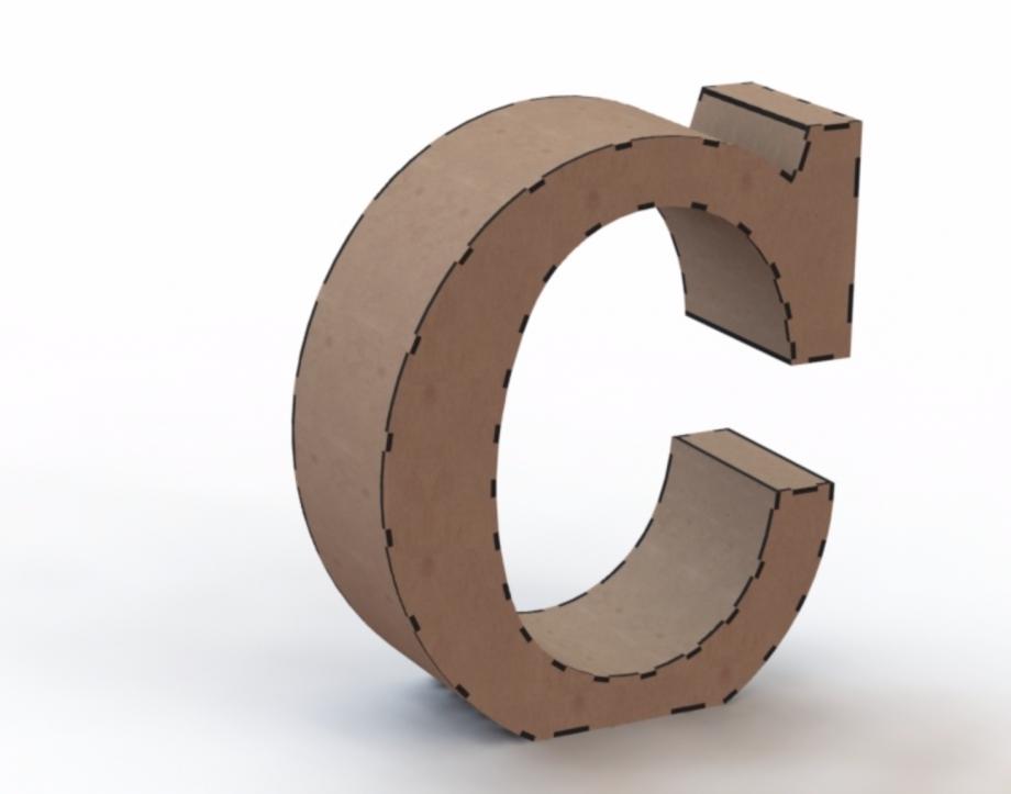 Объемная буква C