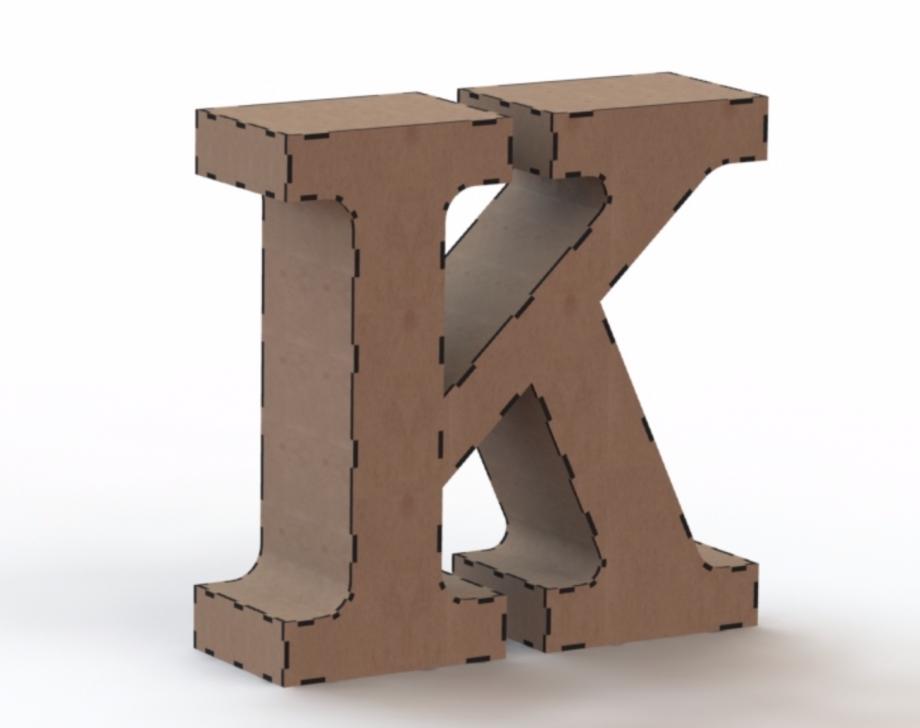 Объемная буква K