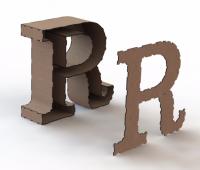 Объемная буква R