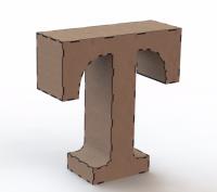 Объемная буква Т