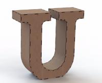 Объемная буква U
