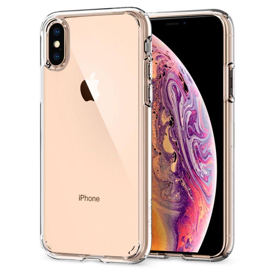 Чехол Spigen Ultra Hybrid для iPhone Xs / X кристально-прозрачный