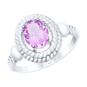 Кольцо из серебра с аметистом 92011530 SOKOLOV