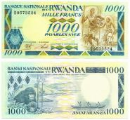 Руанда - 1000 Франков 1988 UNC