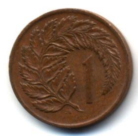 Новая Зеландия 1 цент 1974