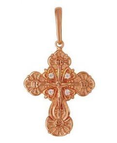 Позолоченный православный крест с фианитами (арт. 788072)