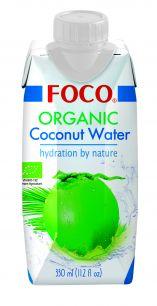 """Органическая кокосовая вода """"FOCO"""" 330 мл Tetra Pak( USDA organic)"""