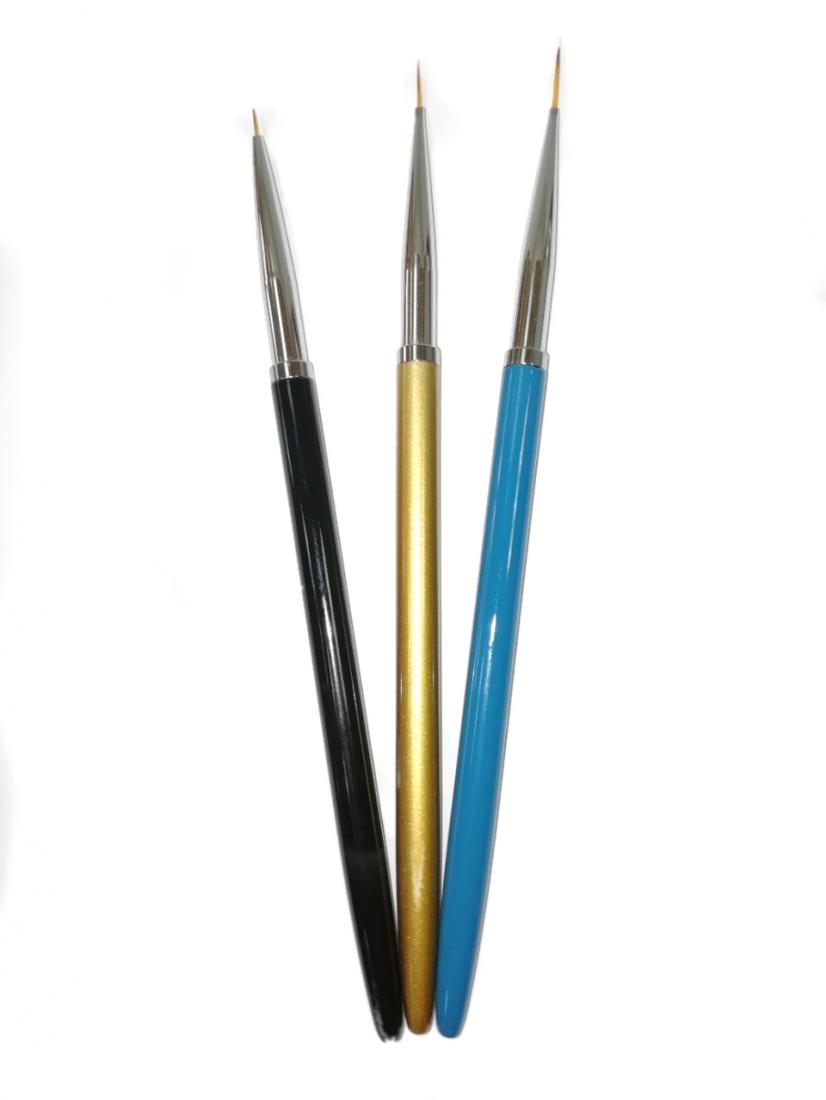 Набор кистей для дизайна «Тонкие линии» (3шт)