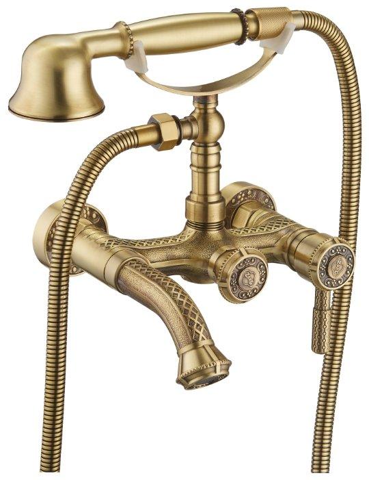 Однорычажный смеситель для ванны с душем ZorG Antic A 200W-BR