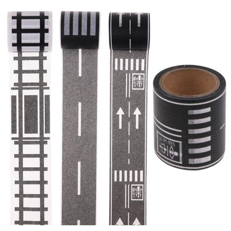 Игровой скотч с дорожной разметкой Умная автомобильная дорога, Размер 50 мм х 40 м