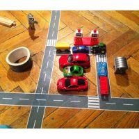 Игровой скотч с дорожной разметкой Умная автомобильная дорога (4)