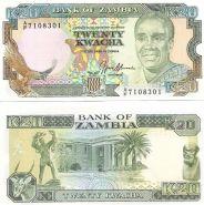 Замбия 20 Квач 1989-91 UNC