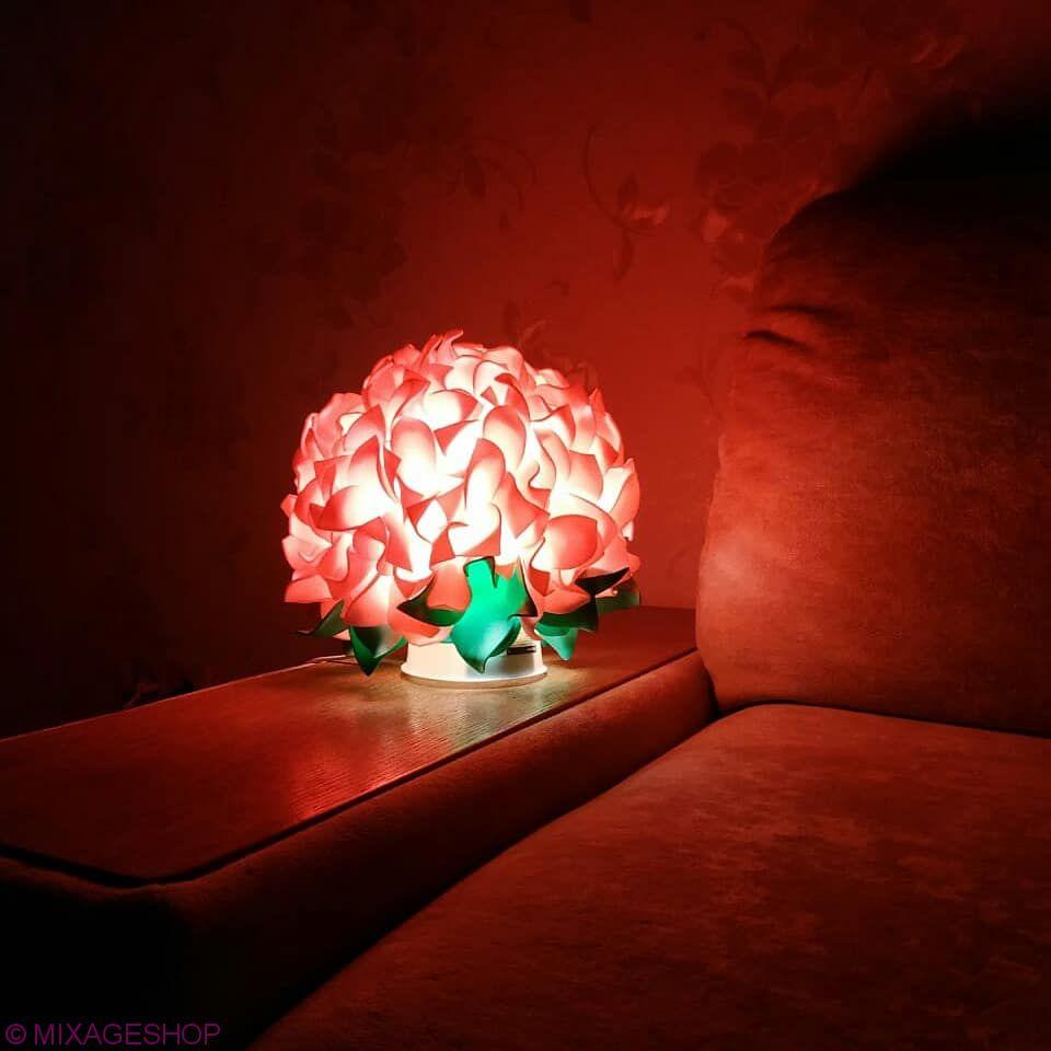Светильник-ночник гортензия нежно-розовая