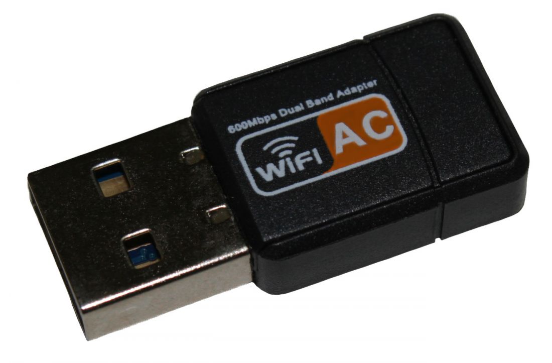 Адаптер WiFi Wireless USB Adapter Dual Band 2.4GHz+5GHz 600Mbps 802.11 n/g/b/ac