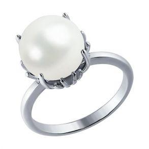 Кольцо из серебра с жемчугом 94010166 SOKOLOV
