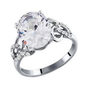 Кольцо из серебра с фианитами 94010323 SOKOLOV