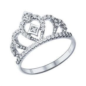 Кольцо корона из серебра 94011216 SOKOLOV