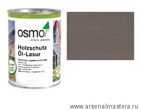 Защитное масло-лазурь для древесины для наружных работ OSMO Holzschutz Ol-Lasur 905 Патина 0,75 л