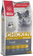 Blitz Adult Cats сухой корм для взрослых кошек «Курица» 400 г