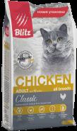 Blitz Adult Cats сухой корм для взрослых кошек «Курица» 10 кг