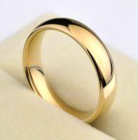 Позолоченное обручальное кольцо 5 мм