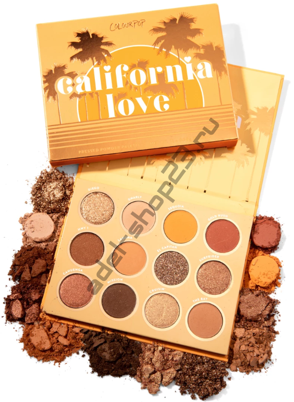 Colourpop - тени для век CALIFORNIA LOVE