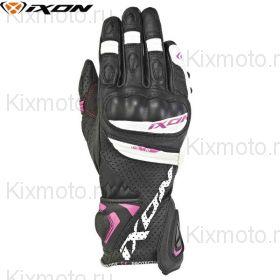 Перчатки женские Ixon Rs Tempo Air, Черный/белый/розовый