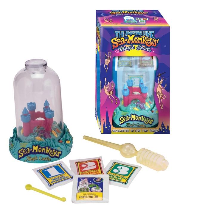 Набор для выращивания креветок аквариум магический замок SEA-MONKEYS OCEAN ZOO MAGIC CASTLE