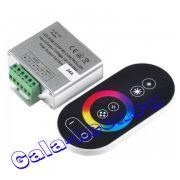 RGB Контроллер сенсорный с RF пультом 5 кнопок 24A (12-24V, 288-576W)