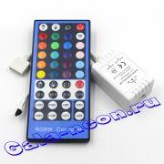 RGBW Контроллер с RF пультом 40 кнопок 16A 12В  (12-24V,192-384W)