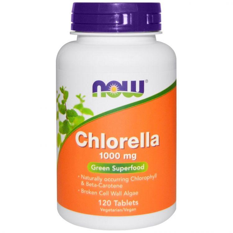 Chlorella 1000 мг от NOW food 120 таблеток